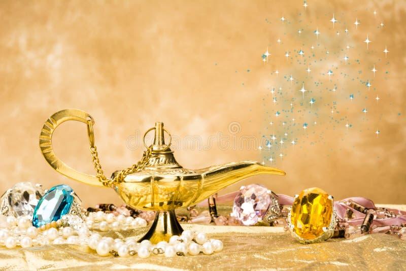Magic lamp stock photos