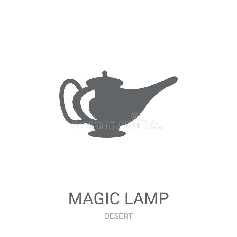 Magic lamp icon. Trendy Magic lamp logo concept on white background from Desert collection stock illustration