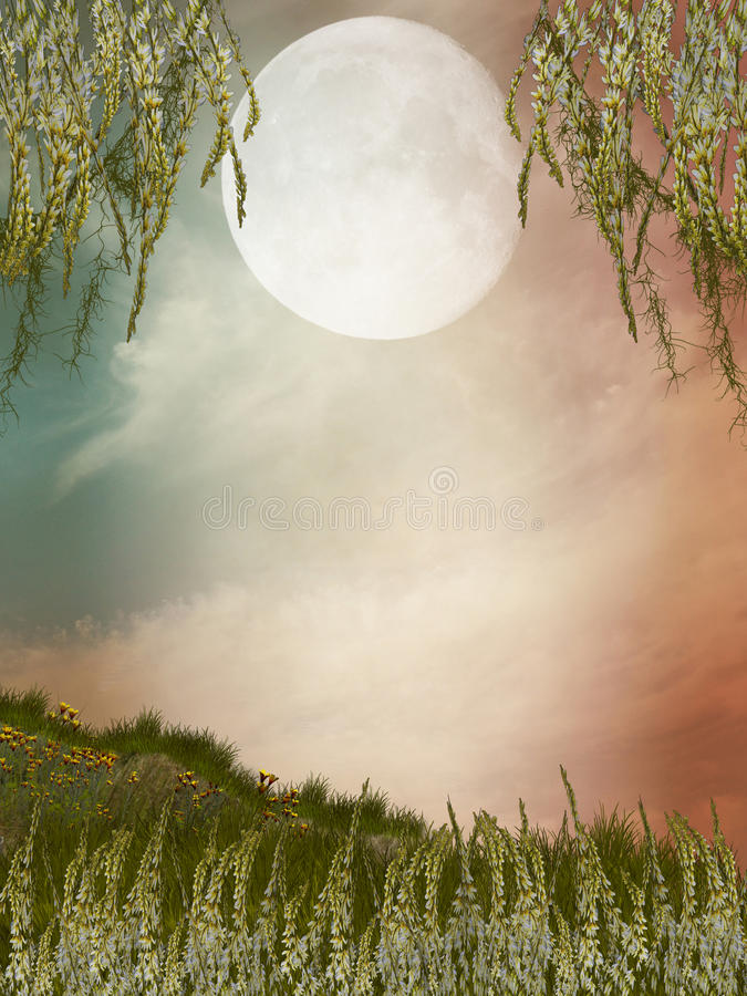 Magic landscape stock illustration