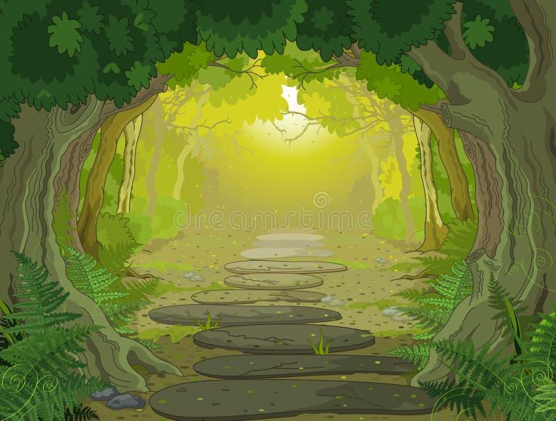 Magic landscape entrance vector illustration