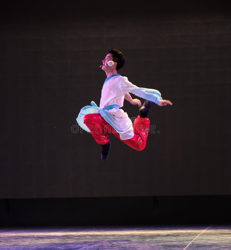 The magic of Ma Liang-Chinese classical dance. Graduation performance of class5, grade 11, dancing department,Jiangxi Vocational Academy of Art on Dec30,2015 royalty free stock image