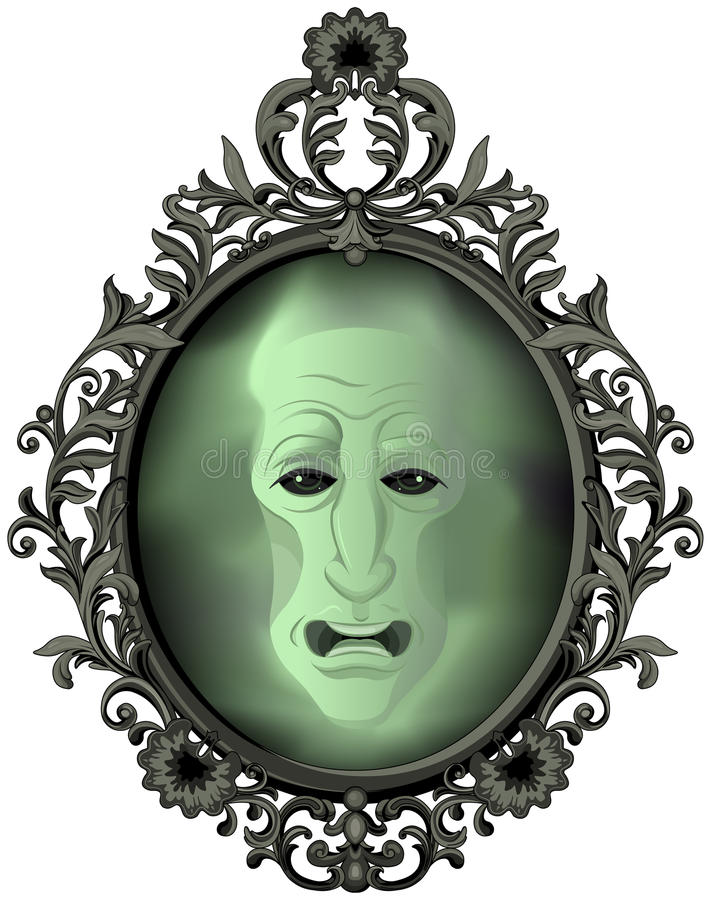 The Magic Mirror stock illustration