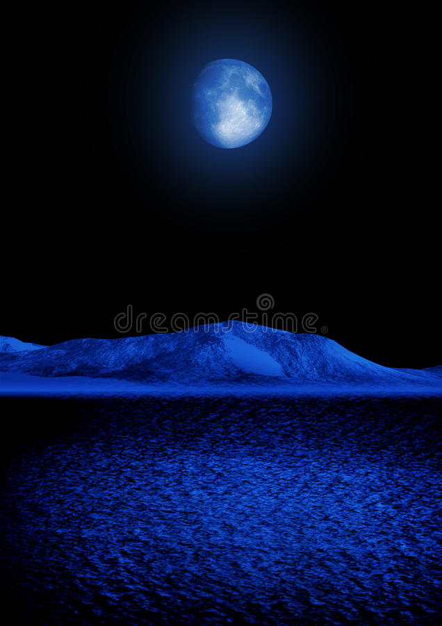 The magic moon royalty free stock images