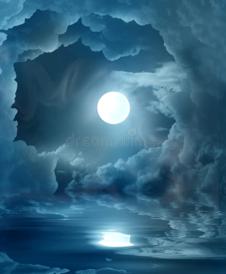 Magic moon stock image