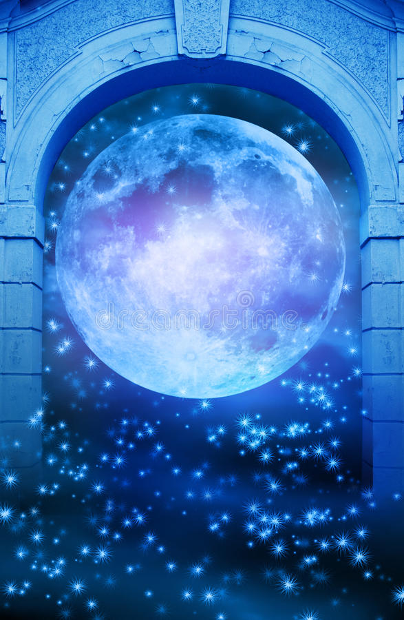 magic moon gate stock illustration  illustration of door
