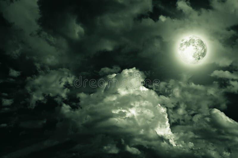 Magic moon over the clouds stock photos
