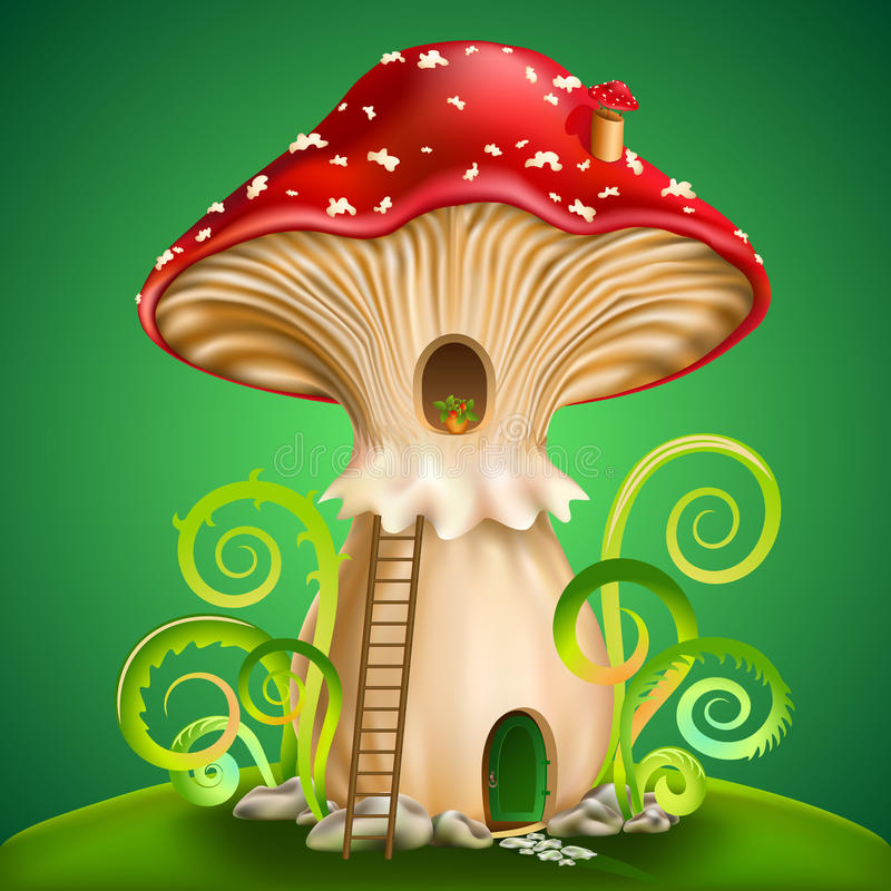 Magic mushroom vector illustration