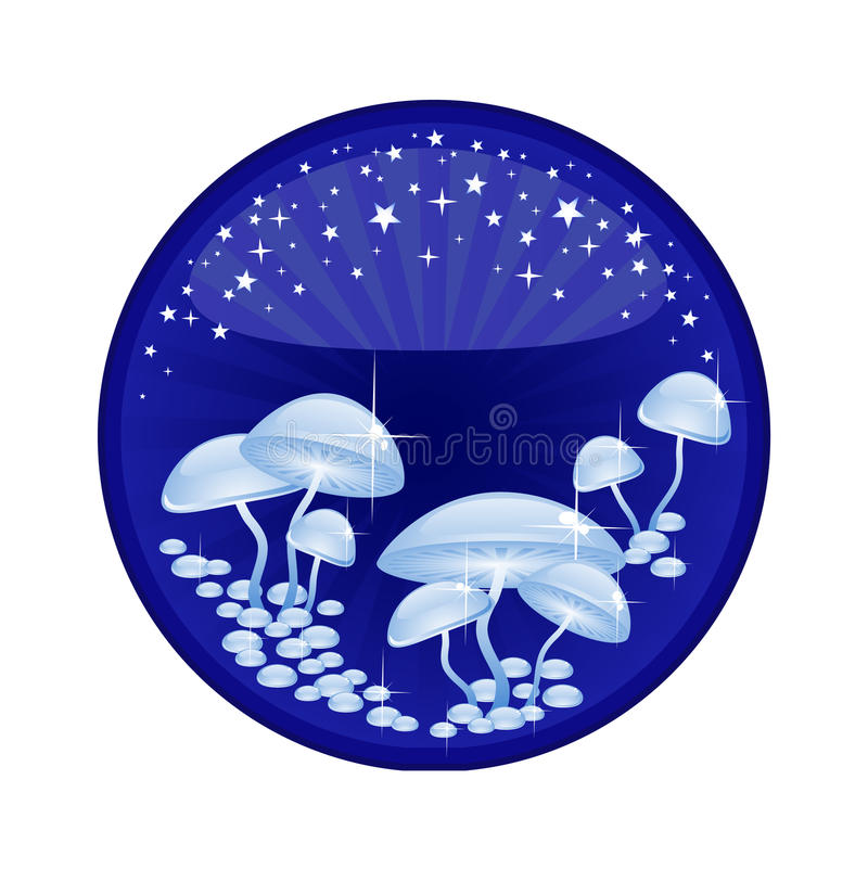 Download Magic mushrooms stock vector. Illustration of hope, bright - 18021409