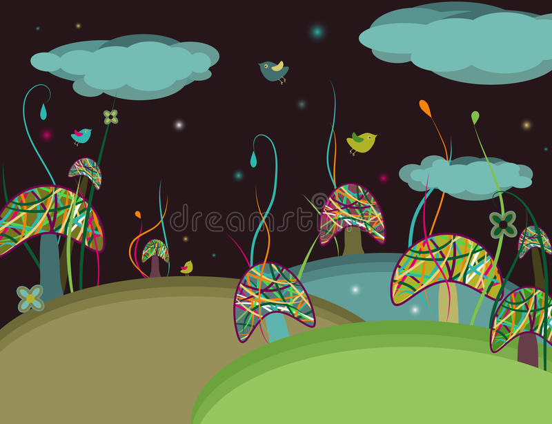 Magic Mushrooms Royalty Free Stock Image