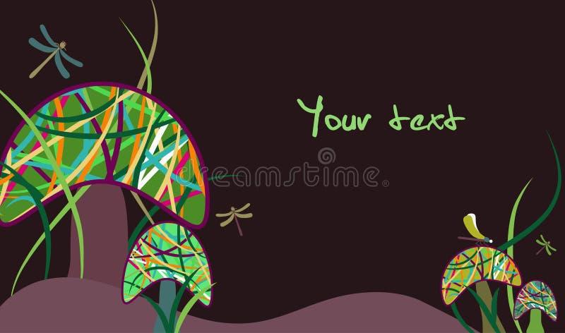 Magic mushrooms vector illustration