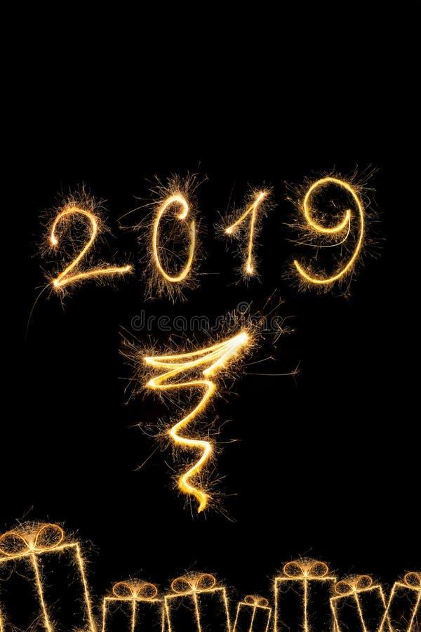Magic new year 2019 stock photos