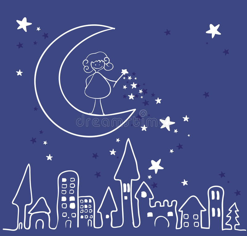 Magic night royalty free illustration