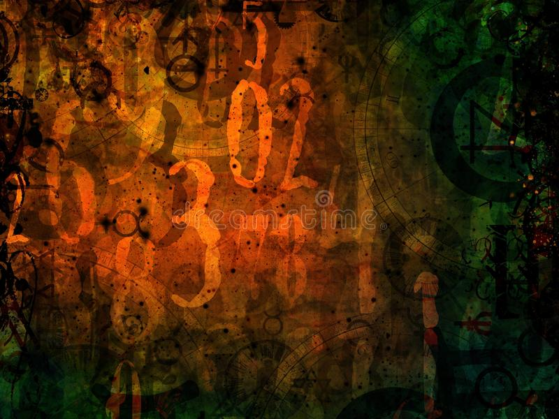 Magic numbers astrology background illustration