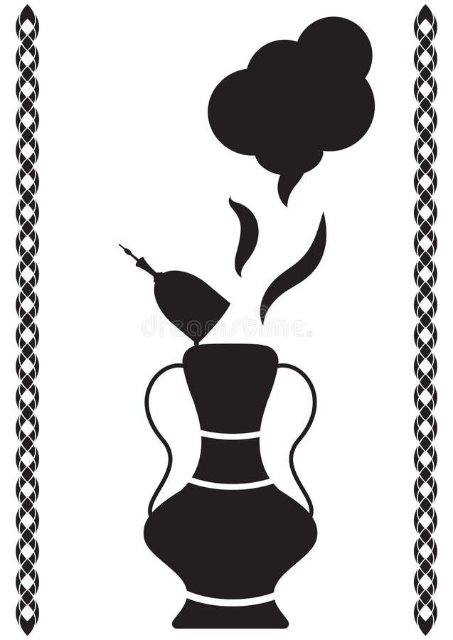 Magic oil lamp, vector illustration of Arabian fairytale. Isolated on white magic lamp silhouette. vector illustration