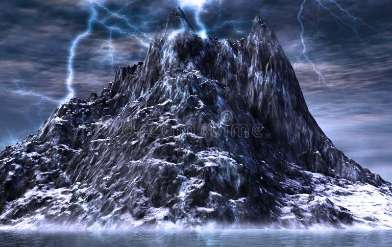 Download Magic peak stock illustration. Image of landscape, computer - 7159283