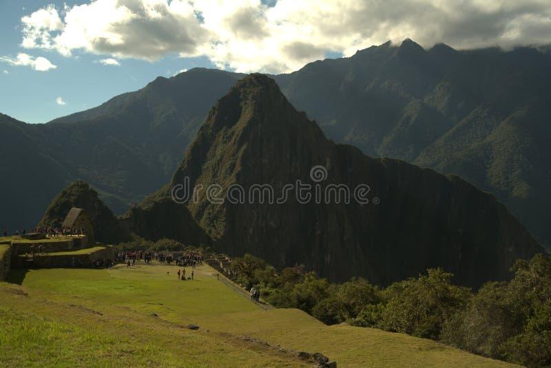 Magic of peru in cusco stock images