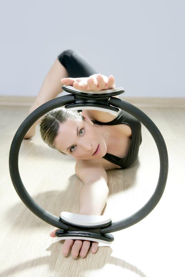 Download Magic Pilates Ring Woman Aerobics Sport Gym Stock Image - Image of fitness, girl: 18933673