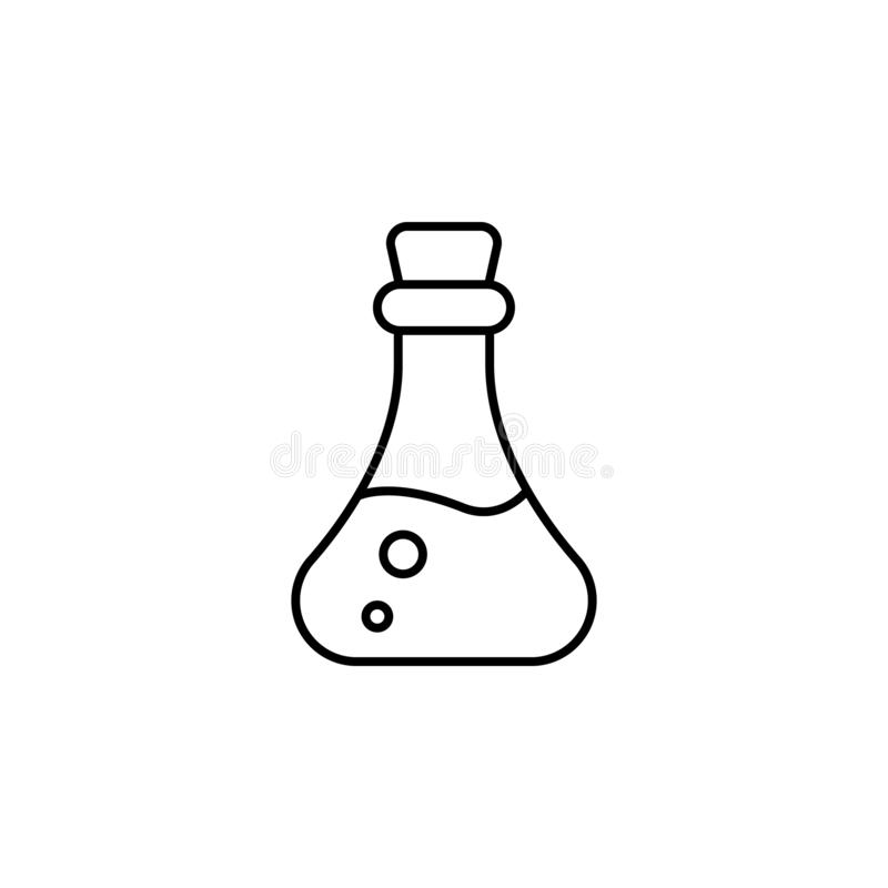 Magic poison outline icon. Signs and symbols can be used for web, logo, mobile app, UI, UX royalty free illustration