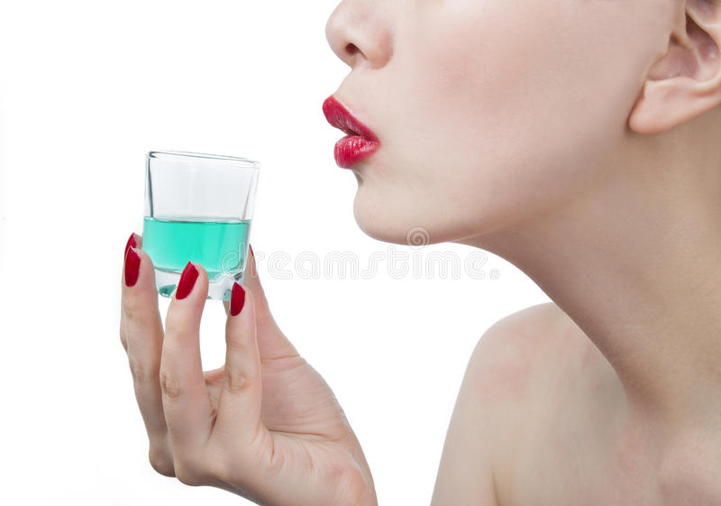 Magic potion with woman stock photo