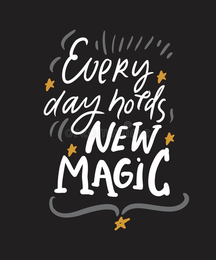 Free Magic Quotes Set For Your Design. Hand Lettering Illustrations Stock Photos - 140613603