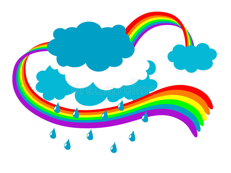 Download Magic rainbow stock vector. Image of orange, illustration - 18312046