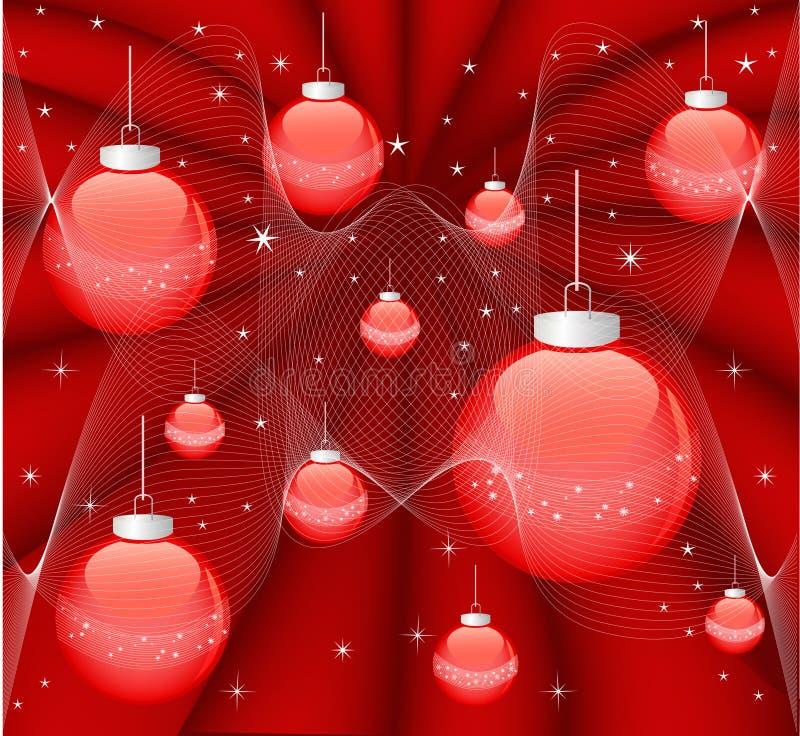 Magic red christmas background stock image