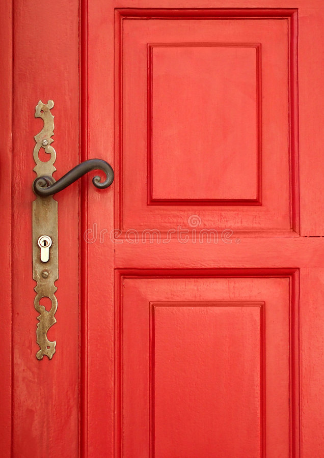 Magic Red Door Royalty Free Stock Photography