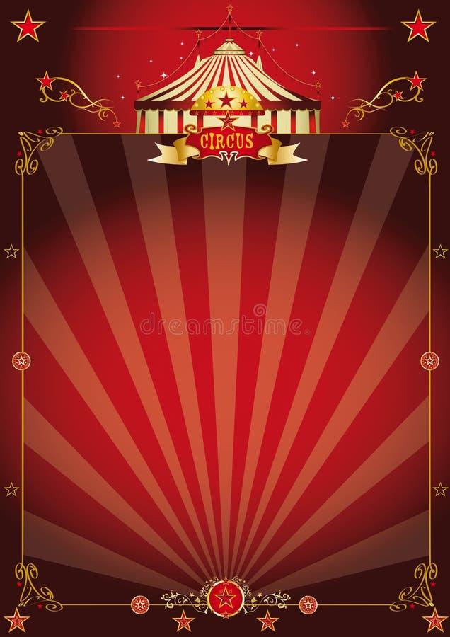 Magic red fantastic circus poster stock photos