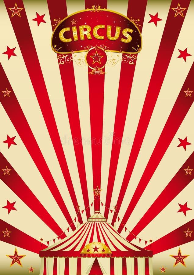 Magic red paradise circus stock photography