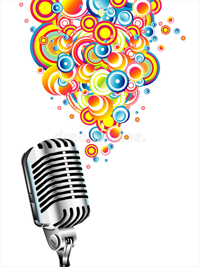 Magic retro microphone royalty free stock image