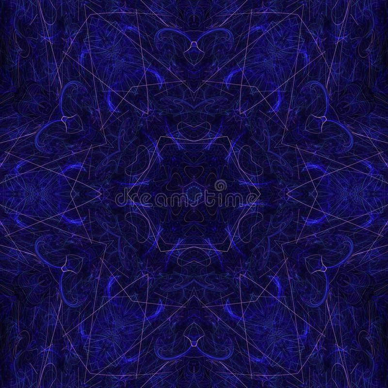 Illustrations  psychedelic fractal futuristic geometric colorful stock image