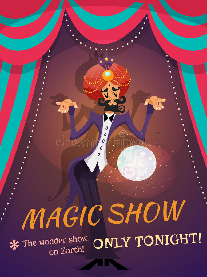 Magic Show Poster royalty free illustration