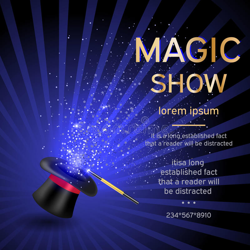 Magic show template royalty free illustration