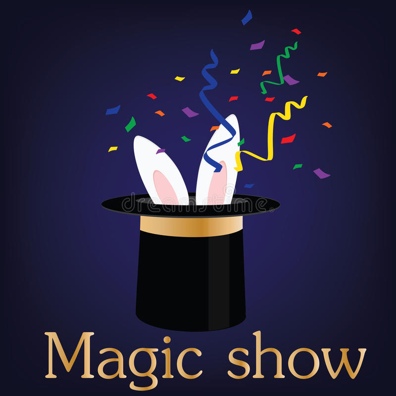 Magic show vector illustration