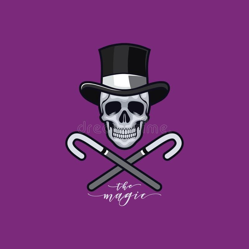 Magic skull stock photos