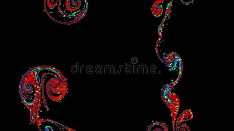 Magic space texture, pattern, looks like colorful smoke and fire. Abstract colourful illustration. Magic space texture, pattern on pink background, looks like stock illustration