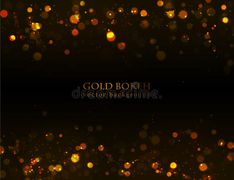 Magic sparkle, gold dots on dark background royalty free illustration