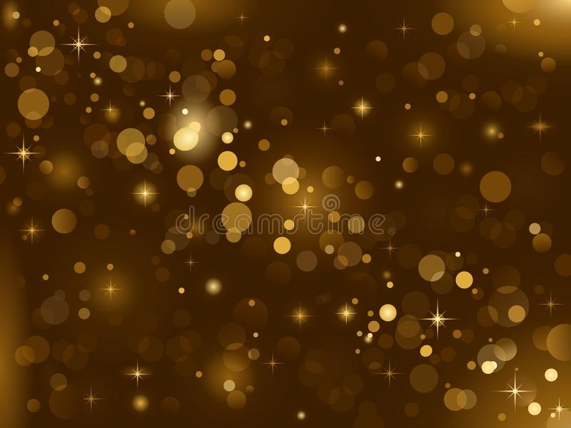 Magic sparkle, light dots; vector bokeh effect. Magic sparkle, light dots on dark background with copy space. Vector bokeh effect. Use of radial and linear vector illustration