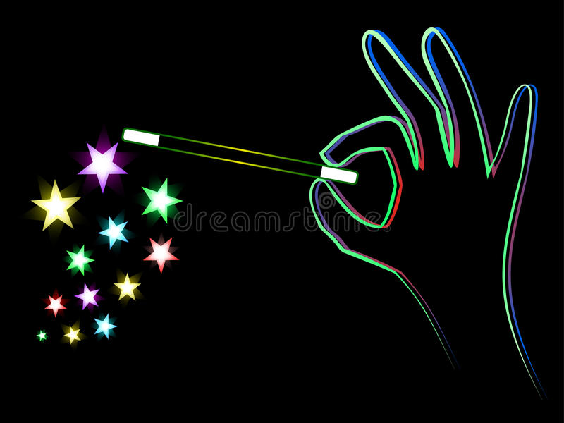Magic stars vector illustration