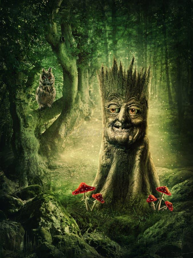 Magic stump vector illustration