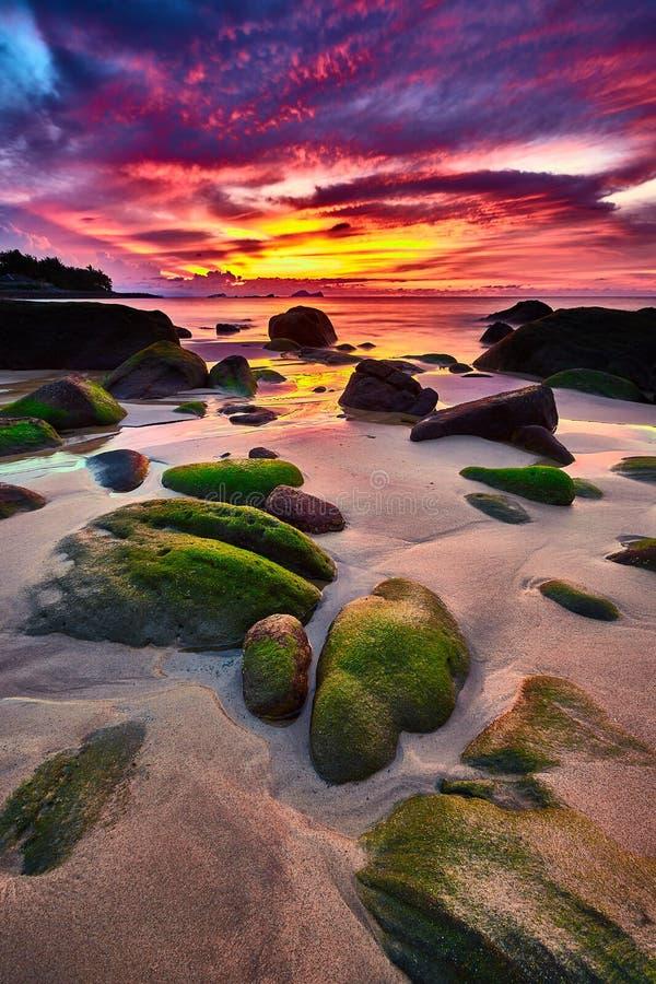 Magic Sunset Clouds stock photos