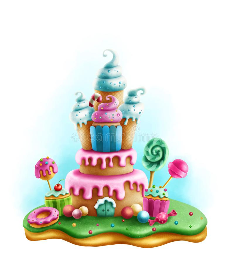 Magic sweets for tea party royalty free illustration
