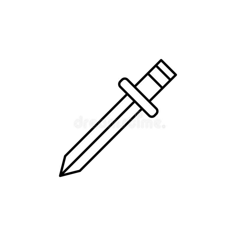 Magic sword outline icon. Signs and symbols can be used for web, logo, mobile app, UI, UX. On white background vector illustration
