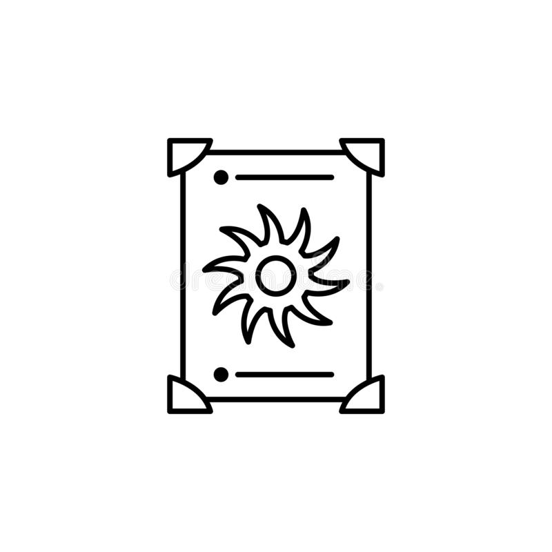 Magic tarot outline icon. Signs and symbols can be used for web, logo, mobile app, UI, UX royalty free illustration