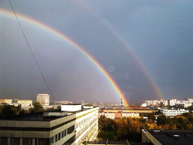 Magic time rainbow royalty free stock image