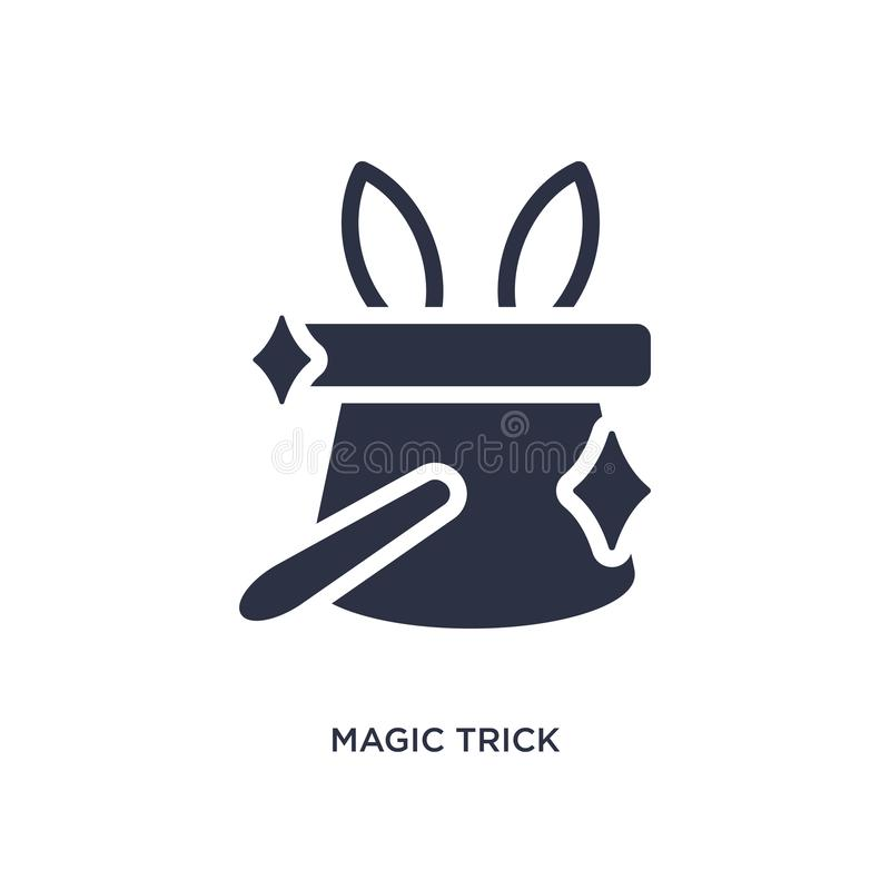 Magic trick icon on white background. Simple element illustration from magic concept. Magic trick icon. Simple element illustration from magic concept. magic stock illustration