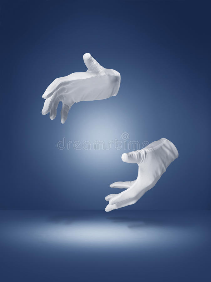 Magic trick illusion hands - Stock image stock images
