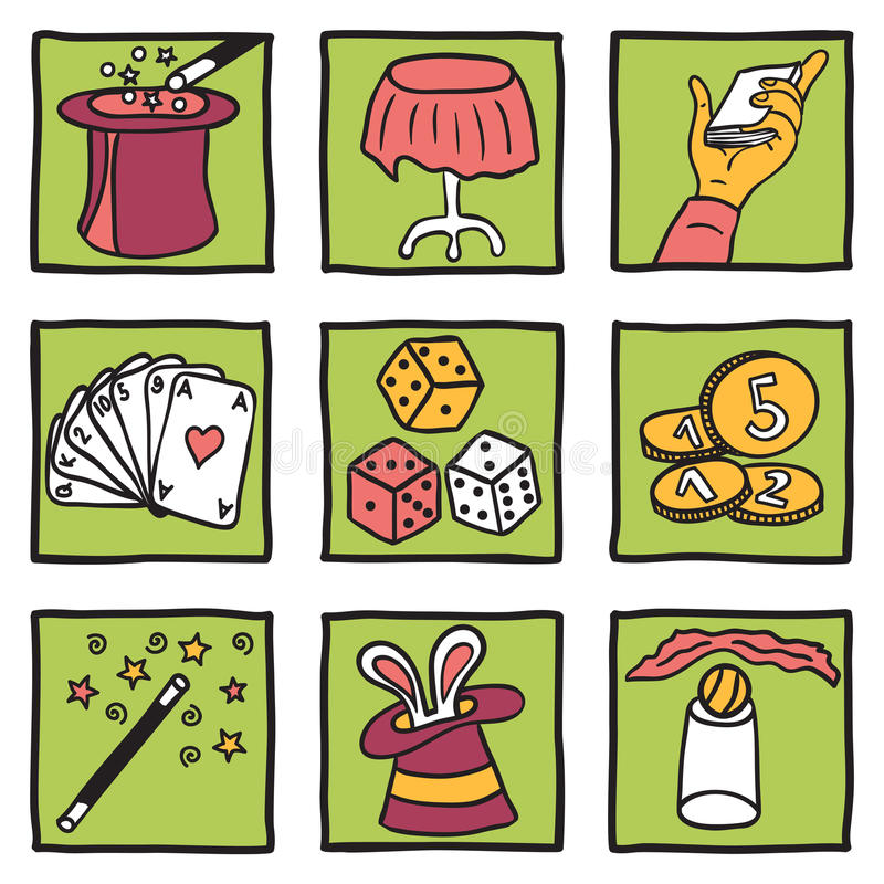 Magic Tricks Collection Royalty Free Stock Image