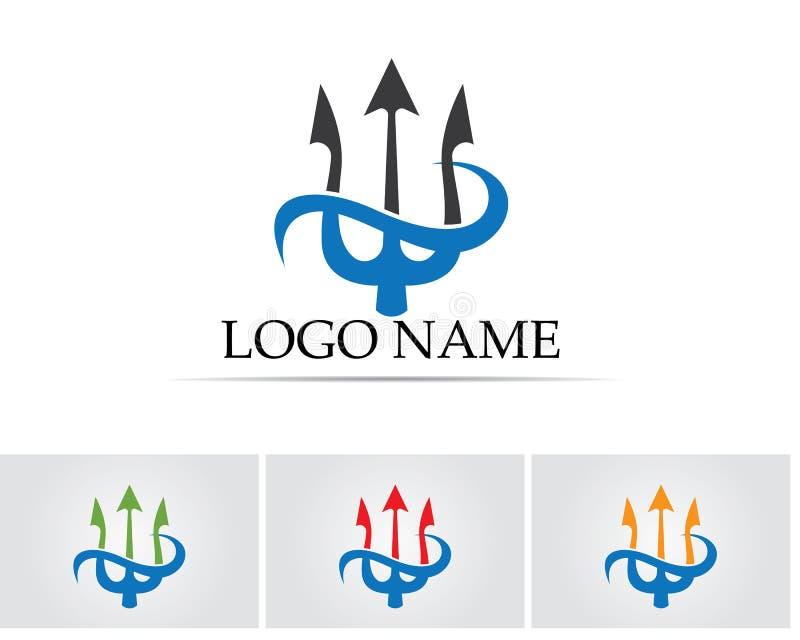 Magic Trident Logo And Symbols Template Vector Stock Vector