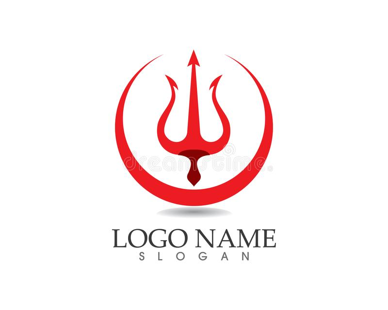 Magic Trident Red Logo And Symbols Template Vector Stock Vector
